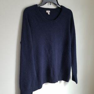 Halogen Navy 100%  Cashmere Sweater